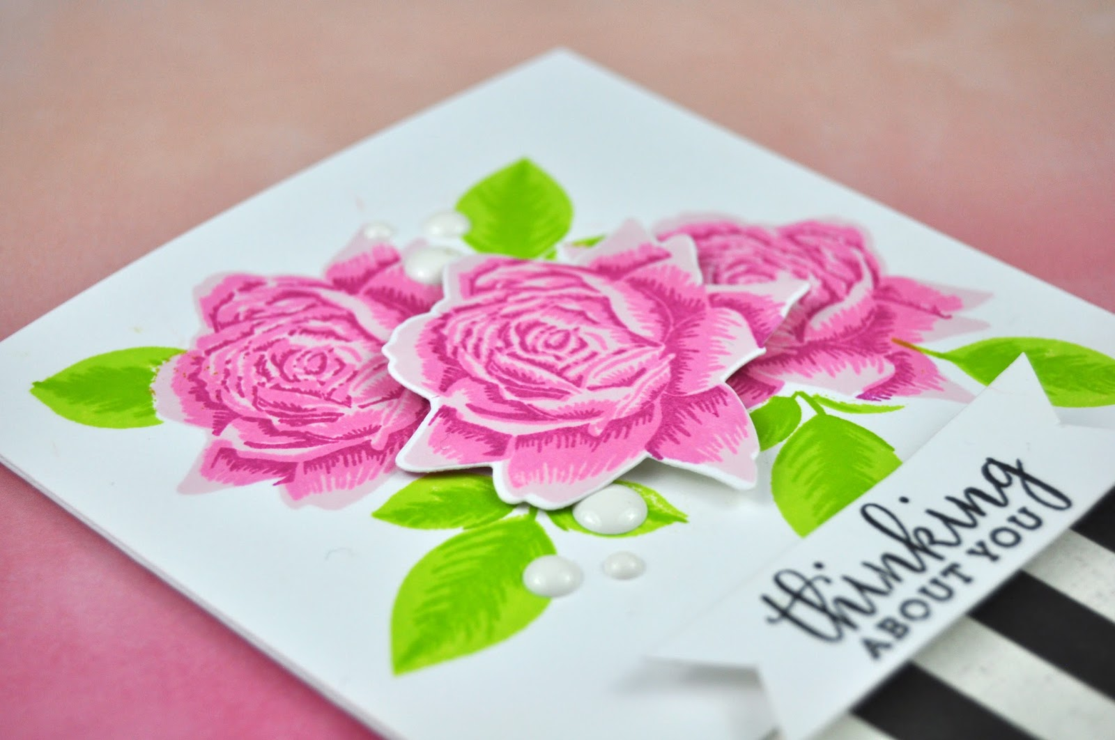 Altenew Bold Blossom Stamped Card by Jen Gallacher for www.jengallacher.com Card making with layered stamps from Altenew. Learn to layer stamps with Altenew inks and stamps. #stamping #cardmaker #jengallacher #altenew