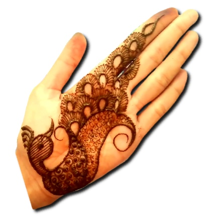 Easy Peacock Mehndi Design Front