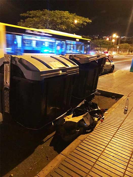 Persona rescatada de un contenedor de basura, Las Palmas Gran Canaria