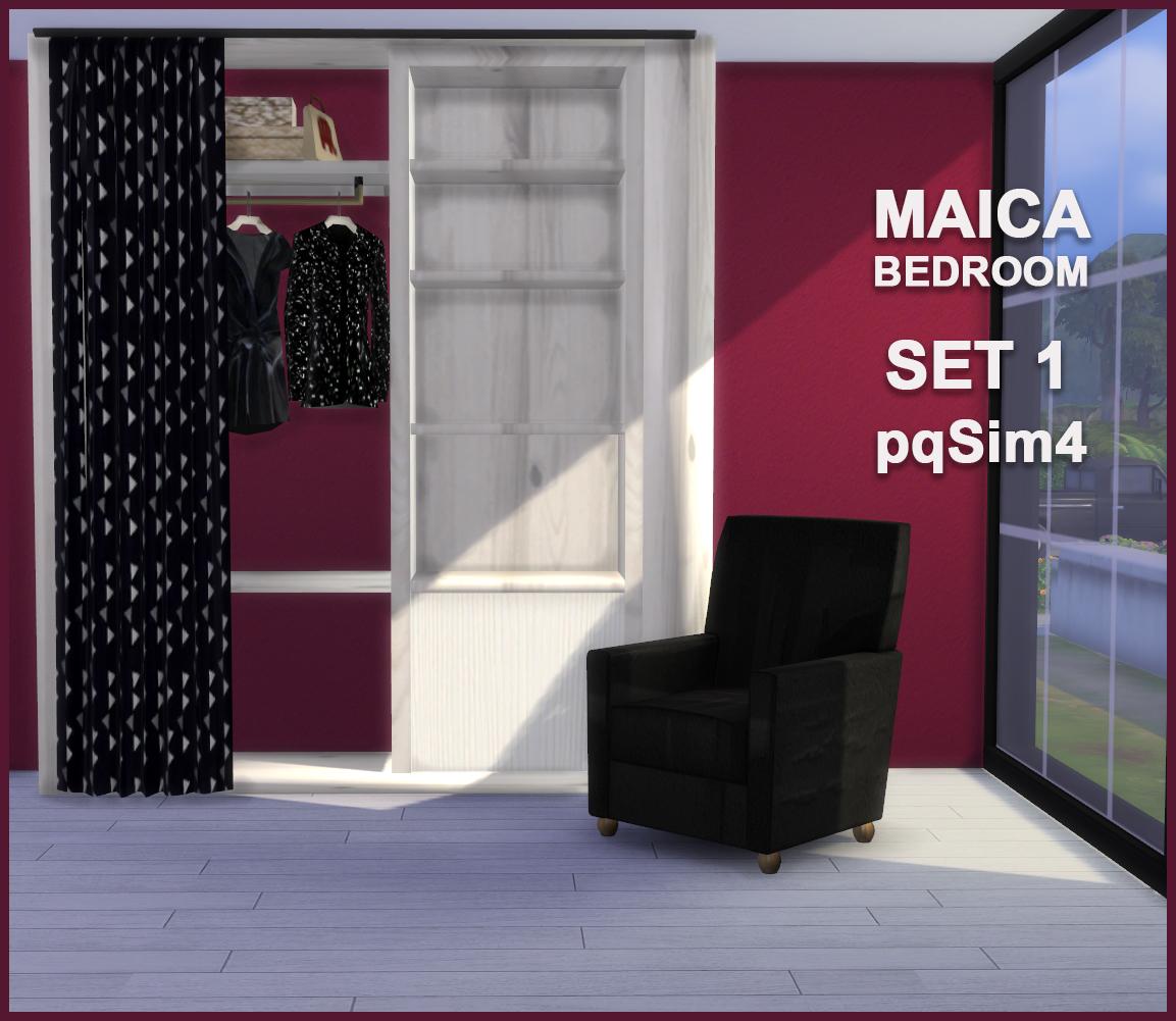 Maica Bedroom Set 1 Sims 4 Custom Content