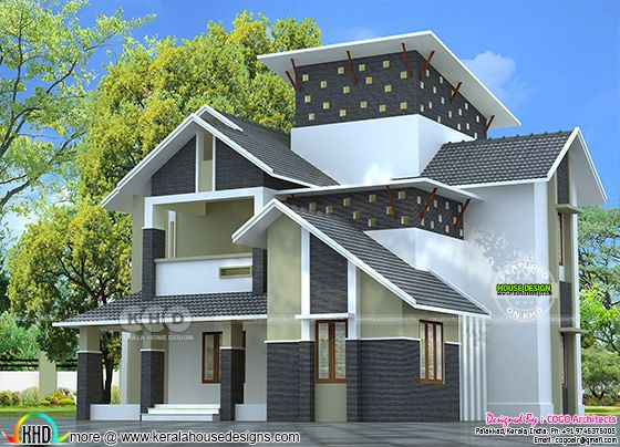 Modern sloping roof 2275 square feet home