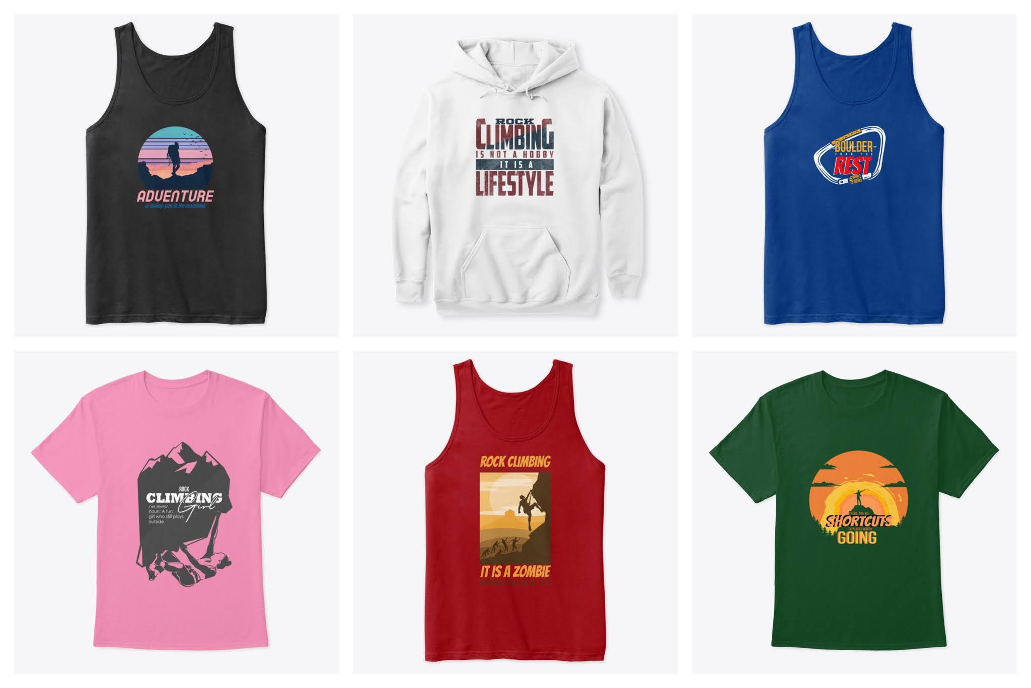 unisex rock climbing apparel for women and men