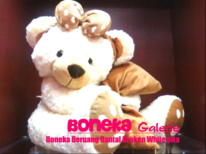 Boneka Beruang Bantal Broken White Pita Besar 554e713dfb