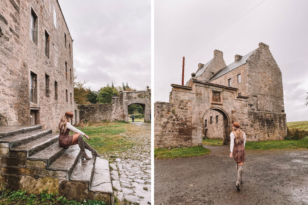 travel blogger Amanda Martin visits Midhope Castle, aka Lallybroch, outside of Edinburgh