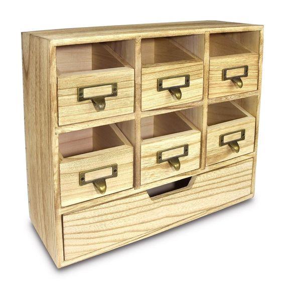 #HOM331 Wooden Desktop Drawers & Craft Supplies Storage Cabinet