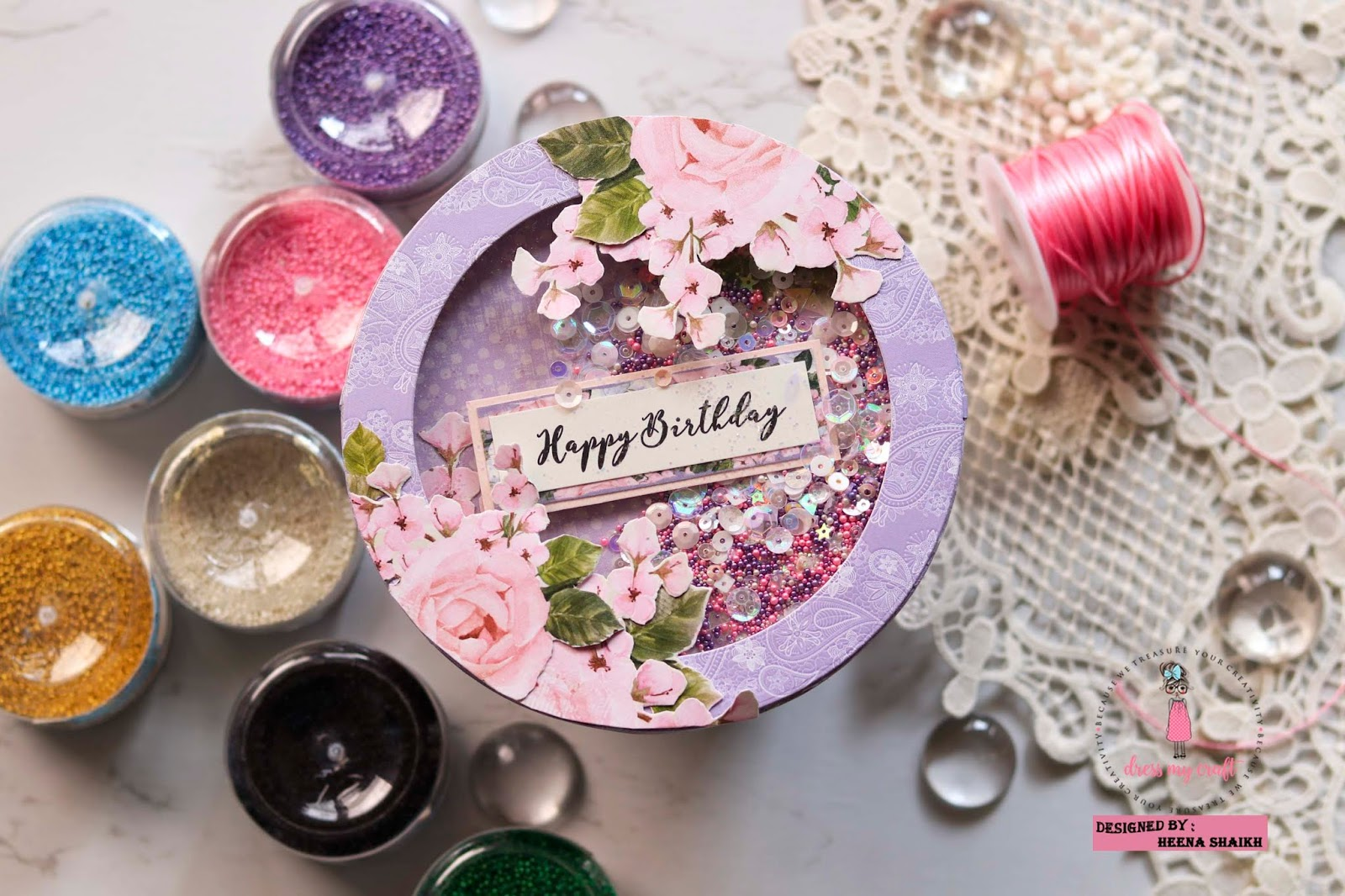 Dress My Craft: 3 Ways to use Dress My craft Flower Pearls.