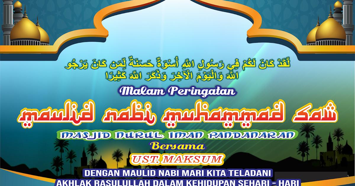 Spanduk Banner Maulid Nabi Muhammad cdr, pdf, jpg, corel ...