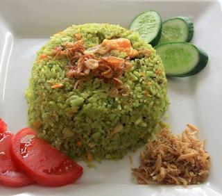 cara membuat nasi goreng hijau