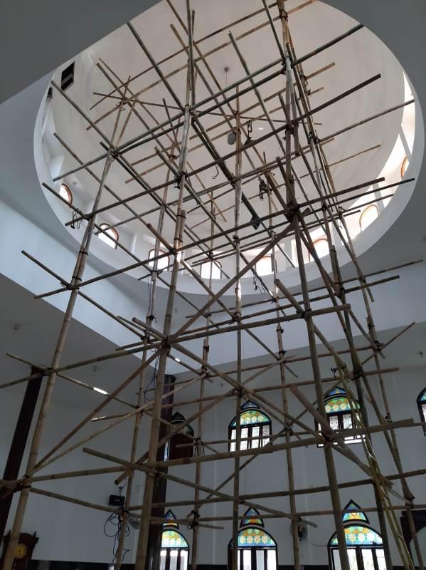Nuansa Awan, Kubah Bagian Dalam Masjid Abu Bakar Ash-Shiddiq GCA Bandung