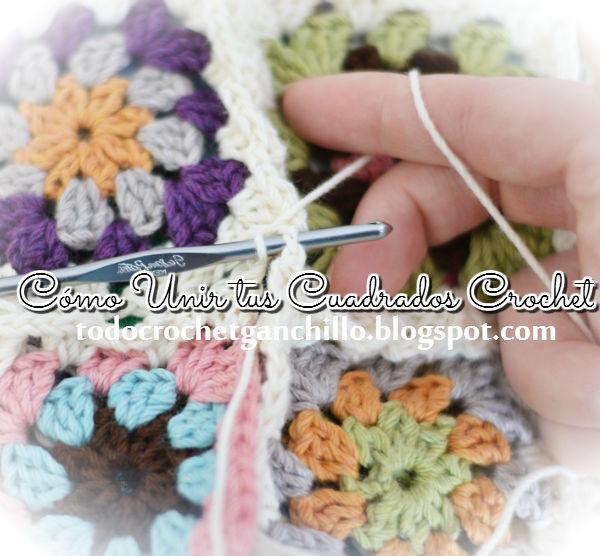 Paso a paso cómo unir los cuadrados de abuelita tejidos al crochet