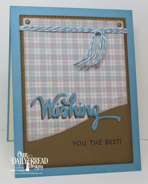 ODBD Wishing Words Stamp/Die Duo, ODBD Custom Leafy Edged Borders Dies, ODBD Custom Double Stitched Rectangles Dies, ODBD Shabby Pastels Paper Collection, Card Designer Angie Crockett