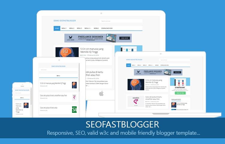 SEO Fast Blogger Themplate Gratis Dan Responsive