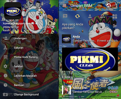 Kumpulan BBM Mod Thema Doraemon Versi Clone Terbaru Keren