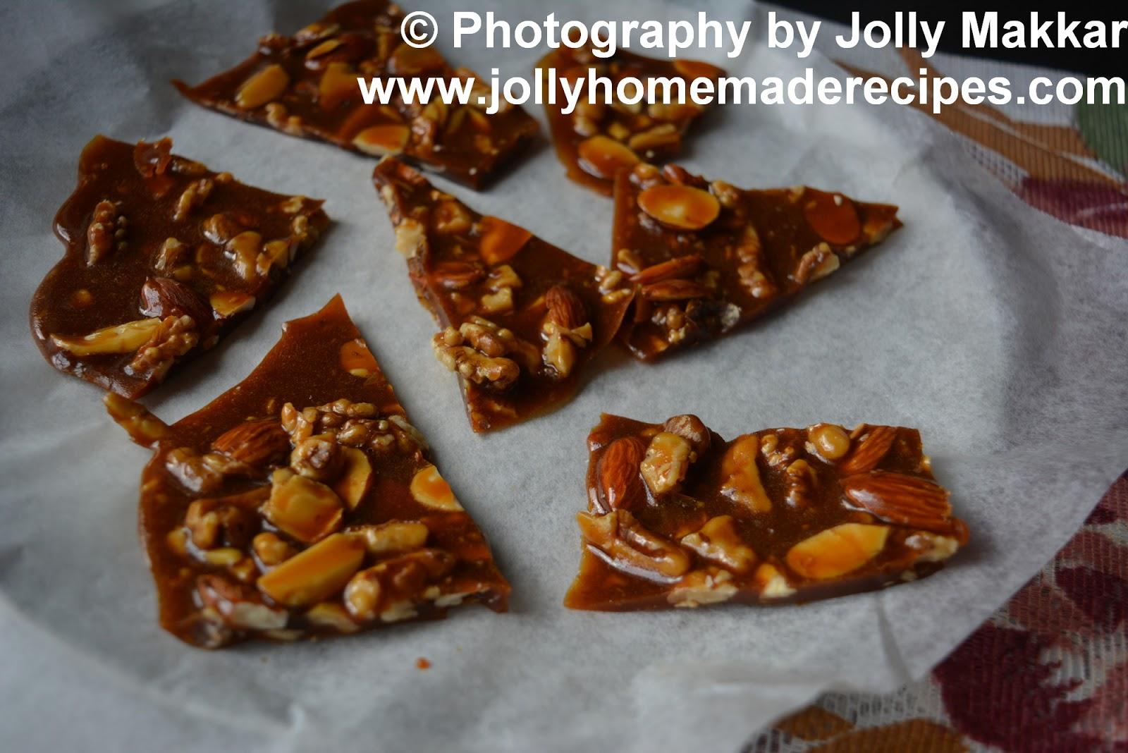 Dry Fruit Chikki with Honey