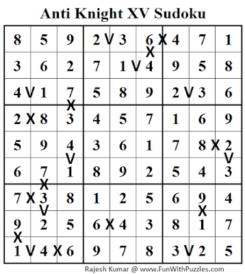 Anti Knight XV Sudoku (Daily Sudoku League #106) Solution