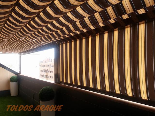 Empresa Toldos en Madrid toldos instaladores Araque Instalación de pérgolas y toldos cortavientos con cofre en Valdemoro - Madrid Trabajos realizados