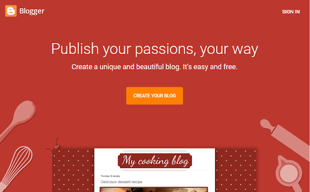 how create a blog for free.