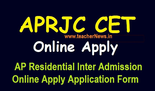 APRJC Online Apply 2021 AP Residential Inter Admission Online Application link @aprjdc.apcfss.in