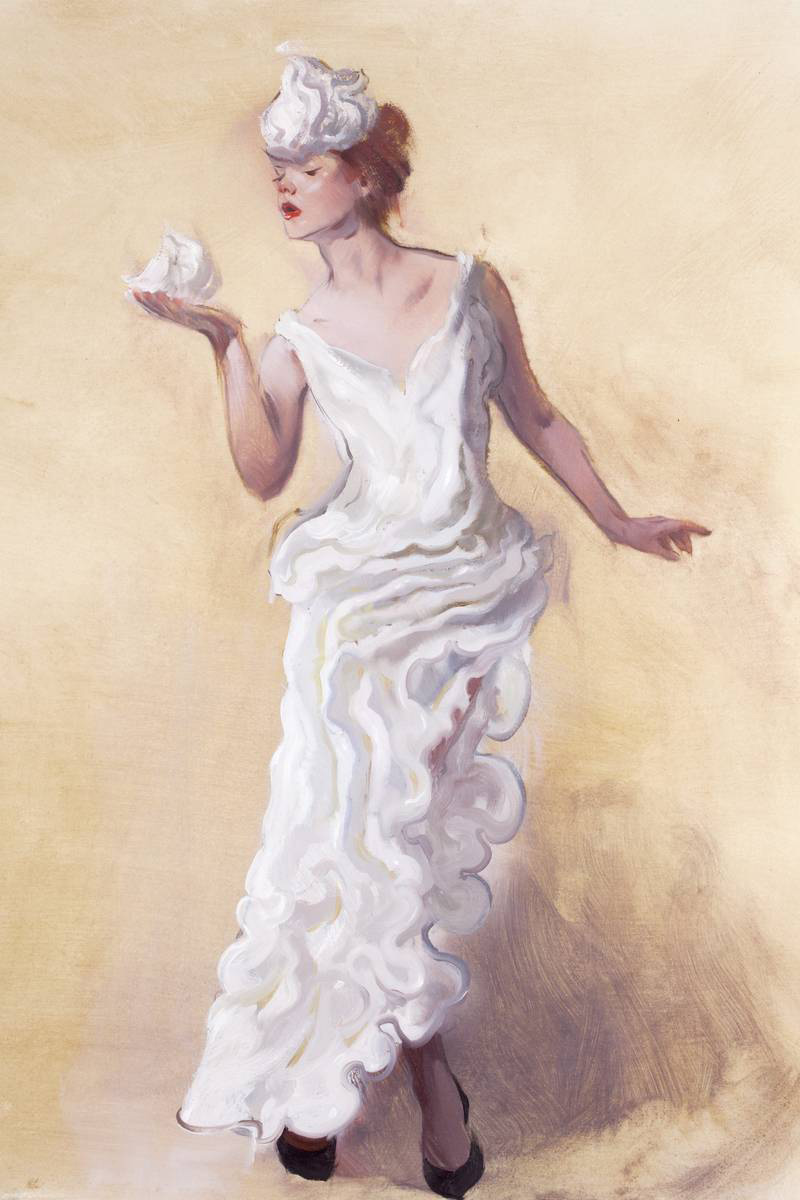 william cotton sketch of elle fanning
