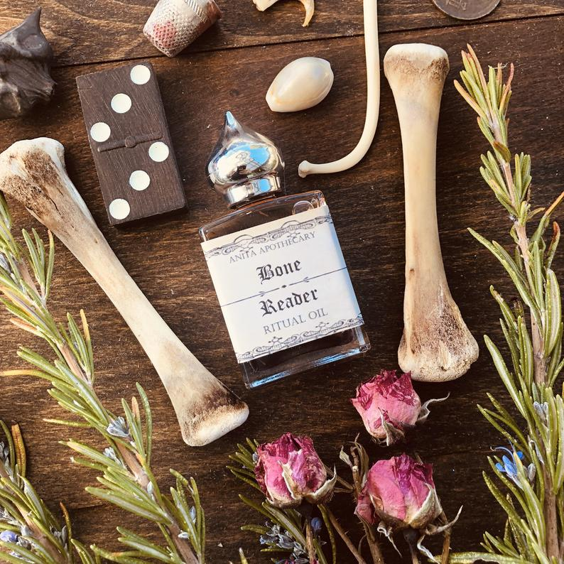 holiday, gift guide, witches, bone reader oil