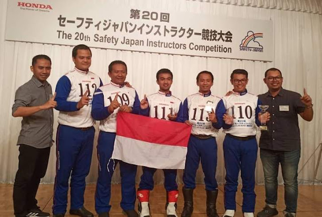 Indonesia juara Safety Riding Jepang Tahun 2019 kelas 400cc