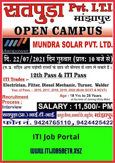 Campus Placement In Satpuda Pvt ITI Manjhapur MP