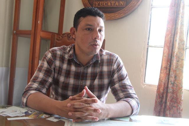 Alcalde de Dzilam González, Christian Ismael Carrillo Baeza. Foto Antonio Sánchez González