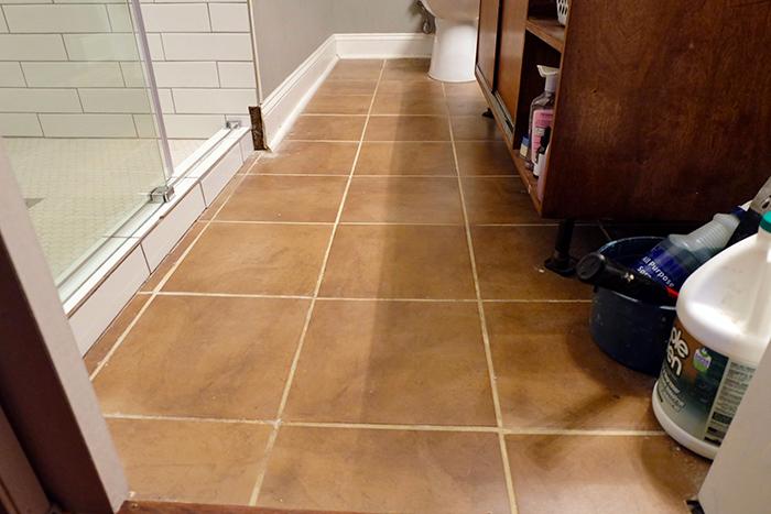 master bathroom tile before