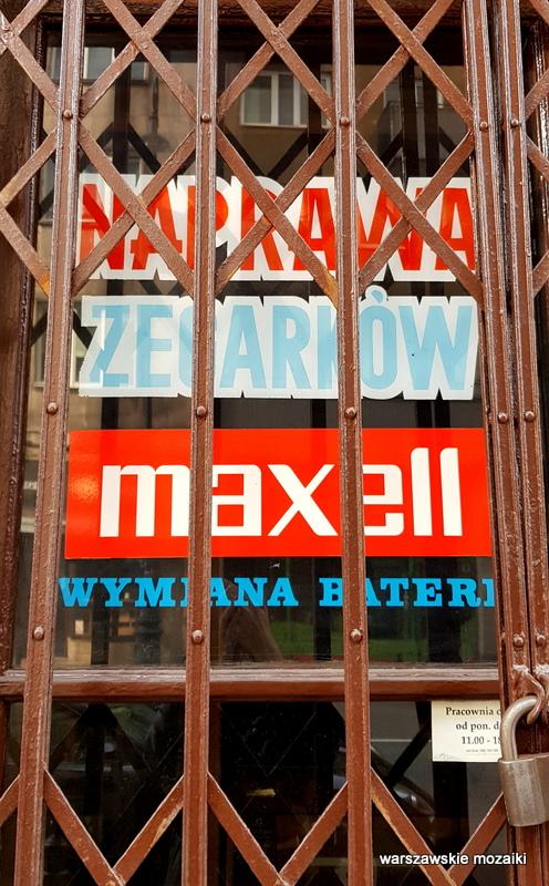 Warszawa Warsaw retro szyld warszawskie szyldy  zegarki
