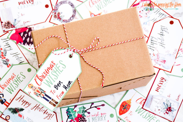 50 Watercolor Christmas Gift Tags