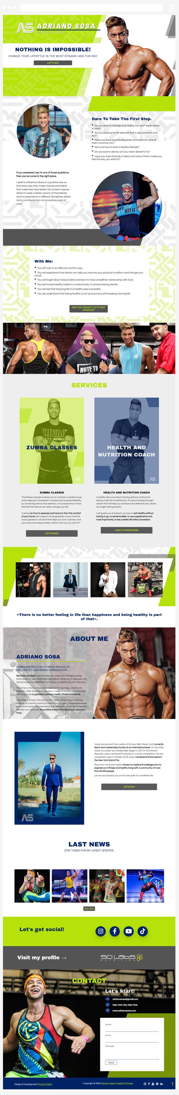 diseño y desarrollo de página web