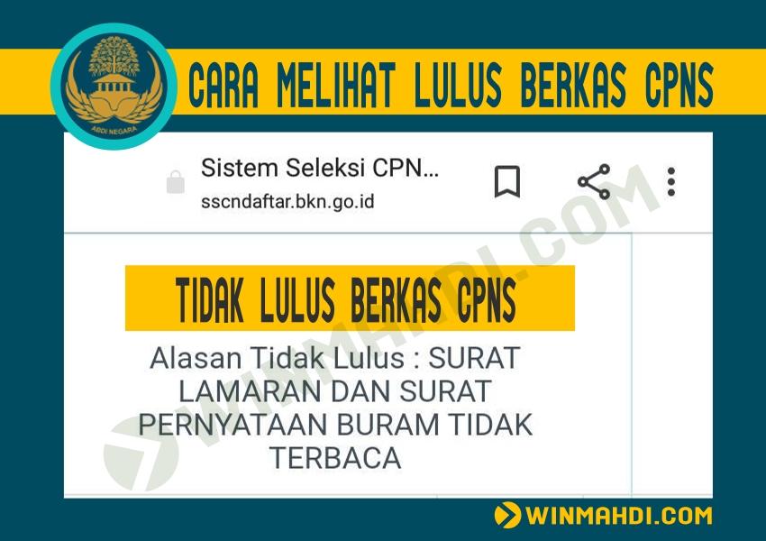 Cara Melihat Lulus Berkas Administrasi CPNS