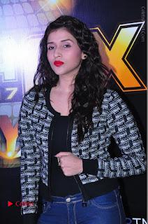 Actress Mannara Chopra Stills in Jeans at Sparx 2017 Curtain Raiser Event  0037.JPG