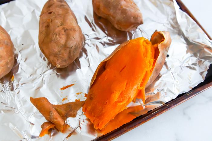 roast sweet potatoes for casserole