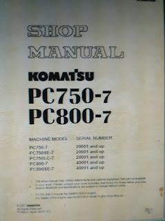 Shop manual pc750-7 800-7 excavator komatsu