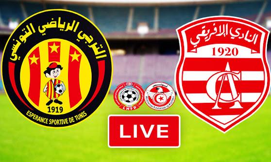 Ligue 1 Tunisie Match Esperance Sportive De Tunis Taraji vs Club Africain Live Stream
