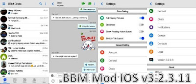 BBM Mod IOS v3.2.3.11 Apk Unclone Full Fitur Update Terbaru 2017 by Erwin Tommy