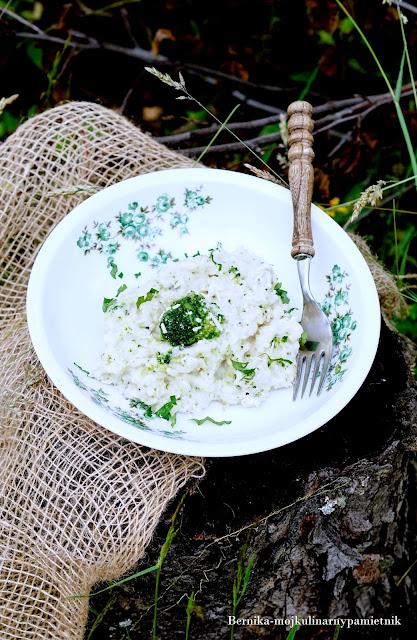 risotto-ser-brokul-trzy sery-bernika-obiad-ryz-kulinarny pamietnik