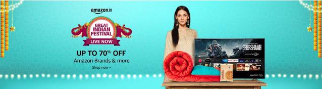 Amazon_India Great Festival Sale   Getupto 70%OFF on Amazon Brands & More