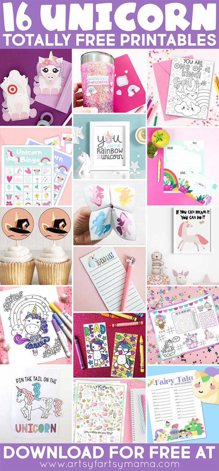 16 Free Unicorn Printables
