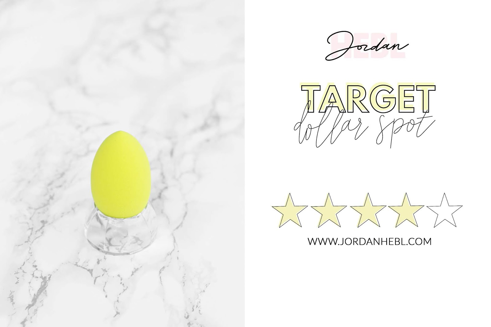 Target dollar spot makeup sponge, comparing makeup sponges, green makeup sponge with marble background, beauty comparisons, beauty blogger
