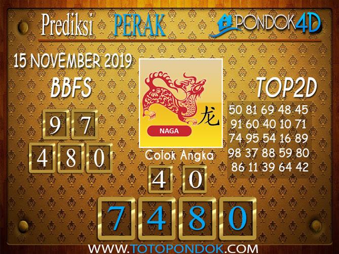 Prediksi Togel PERAK PONDOK4D 15 NOVEMBER 2019