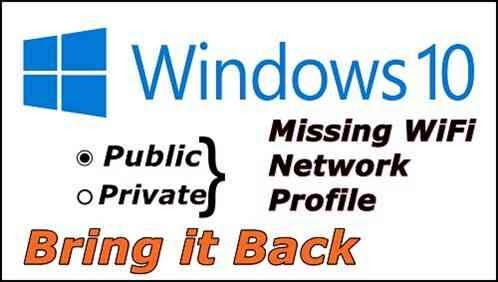 change wifi from public to private windows 10