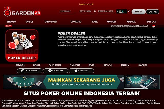 POKER DEALER ~ Bo Togel Resmi - Bandar Togel Online Resmi