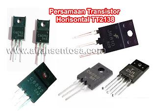 Persamaan Transistor Horisontal TT2138 Lengkap