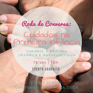 15 set, 15h: Roda de Conversa - Cuidados na Primeira Infância