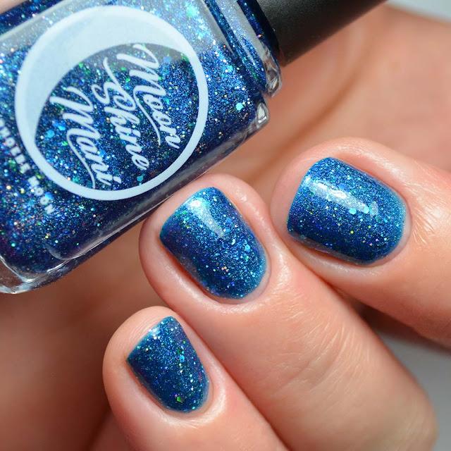 sapphire linear holo nail polish