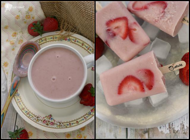 Strawberry Atole + Strawberry Atole Paletas
