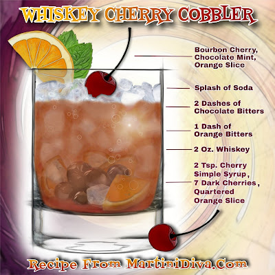 Whiskey Cherry Cobbler Cocktail with Ingredients & Instructions