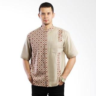 Model Baju Batik Pria Kombinasi Lengan Pendek
